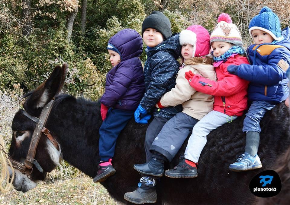 Granja riorcal con niños